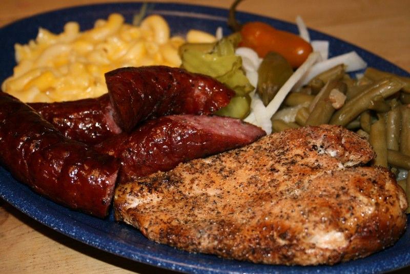 mcbee's new braunfels chicken and sausage